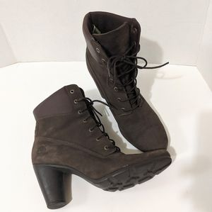 Timberland Suede Heeled Boots